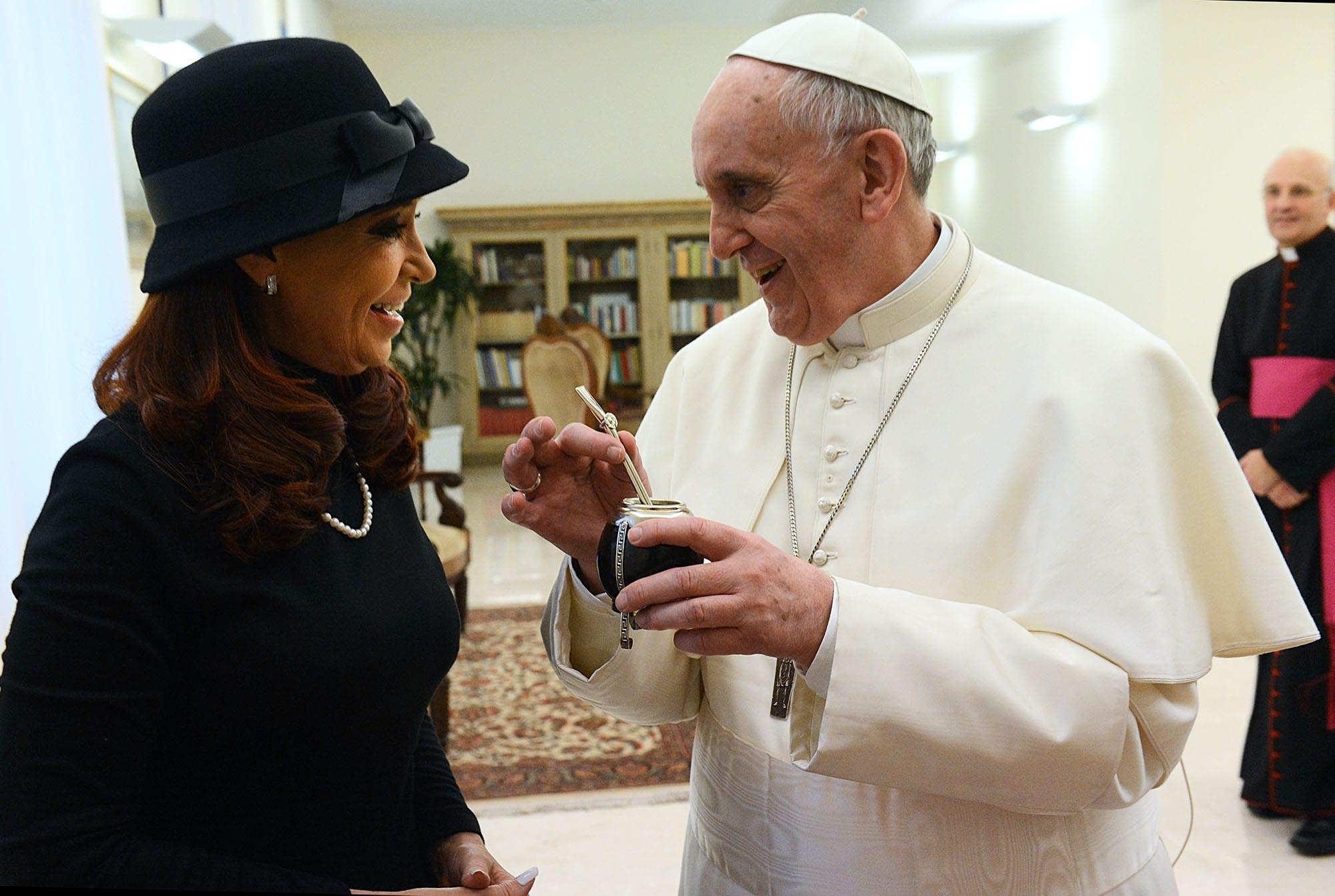 Popiežius Pranciškus - Yerba mate